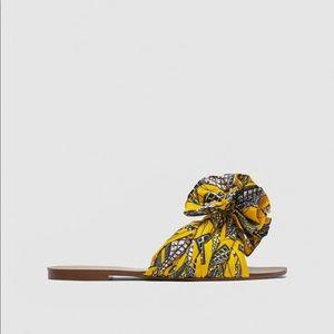 Zara pineapple print sandals